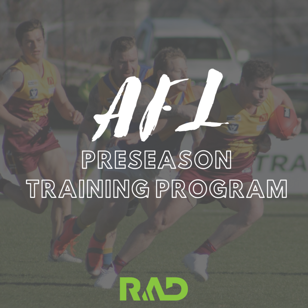 AFL preseason program